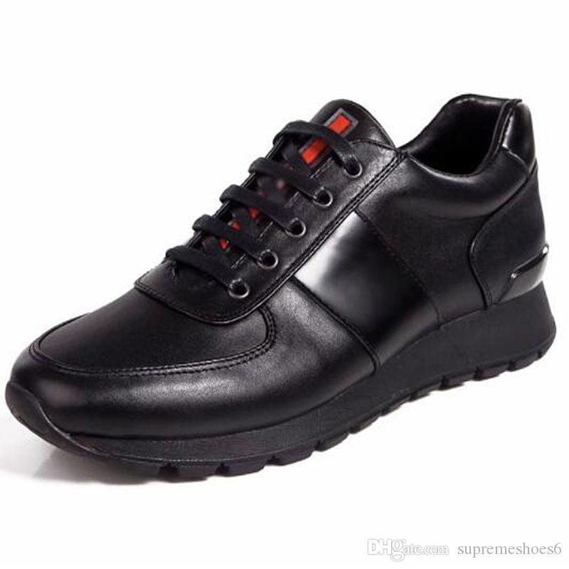 Uomini scarpe Race casuali Cuoio e scarpe Sneakers in tessuto tecnico Famous Men Casual Walking Fashion Flats by3