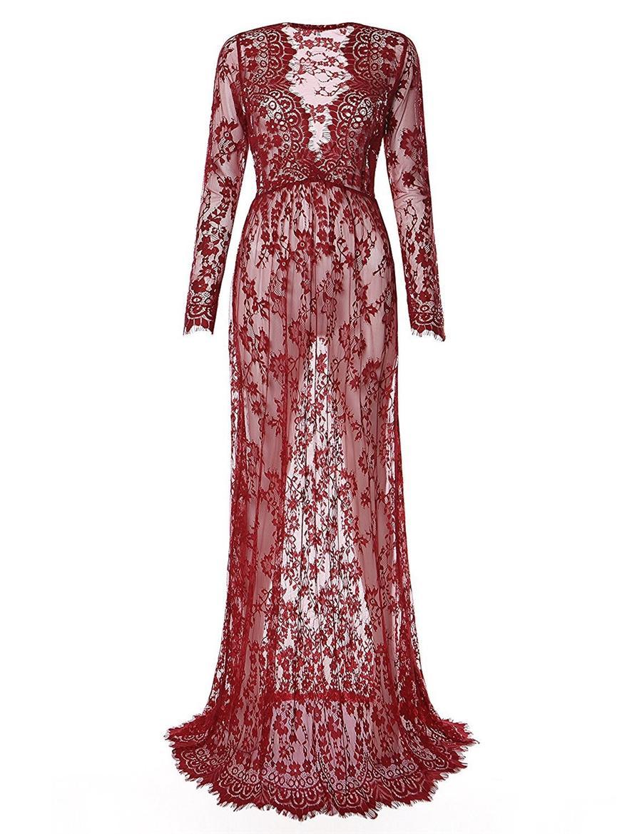 Country Style dentelle à manches longues robes de mariée 2020 Vintage V-cou balayage train Robe de Novia Boho mariage Robes de mariée Ba7263 # 543