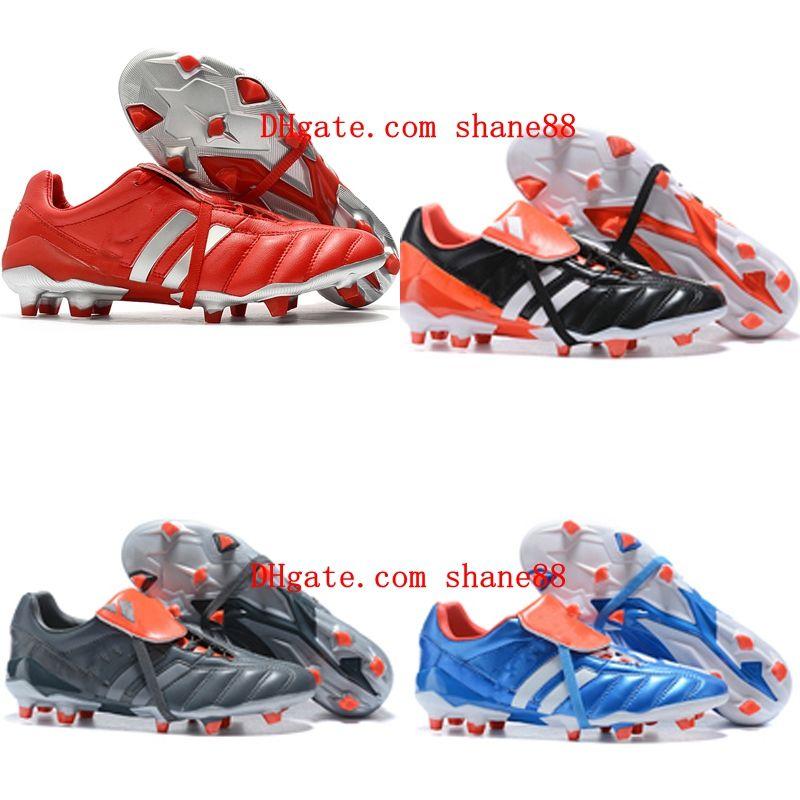 2020 yeni erkek futbol krampon PREDATOR MANİ FG futbol ayakkabıları 6TH Predator futbol ayakkabıları Tacos de futbol en kaliteli kırmızı