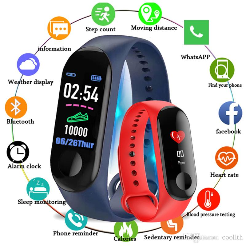 New Cross-Border M3 Sport Bracelet Smart Watch Waterproof Bluetooth Walking Ring IP67 Waterproof Support Retail Wholesale