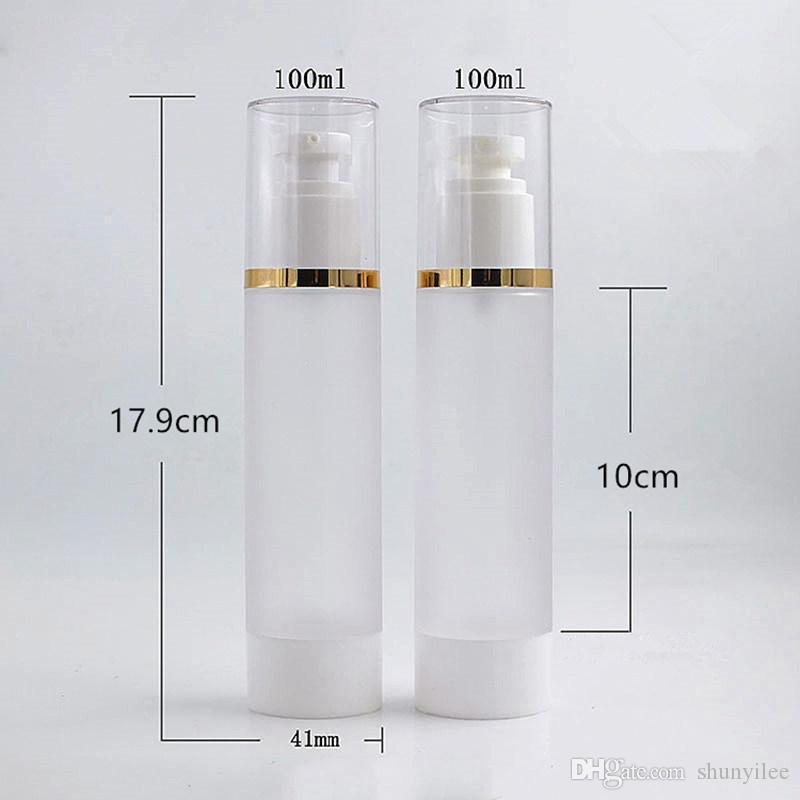 Frasco de Cosméticos de plástico Garrafas Recarregáveis Emulsão 100 ML Fosco Airless Pump Vacuum Container Fast Shipping