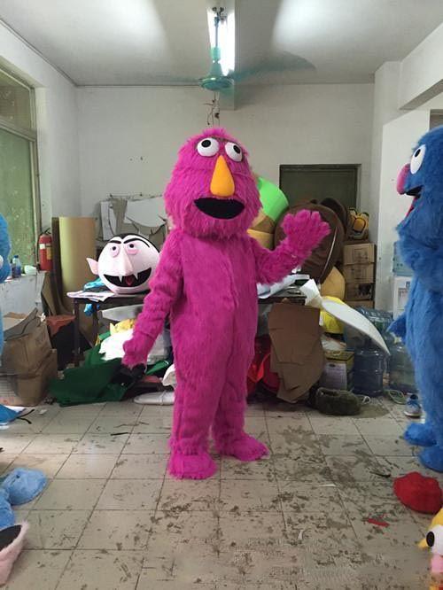 2019Hot nuevo traje de la mascota de Sesame Street ropa de dibujos animados lindo fábrica personalizada accesorios personalizados privados caminando muñecas muñeca ropa