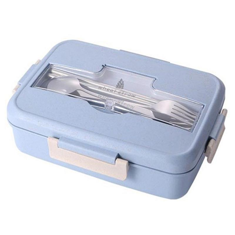 Wheat Straw Lunch Box Microwave Bento Lunch Box Picnic Food Container Lunch Box Food Storage Container for Student
