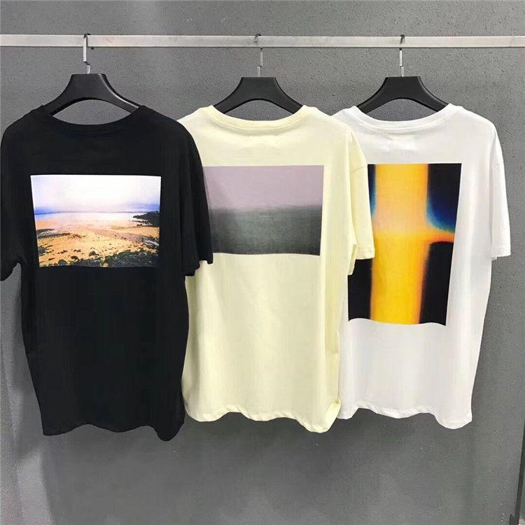 19SS Boxy Foto de t-shirt Varios Nueva clásico de la calle de manga corta de los hombres de Hip Hop verano de las mujeres camiseta fresca del envío