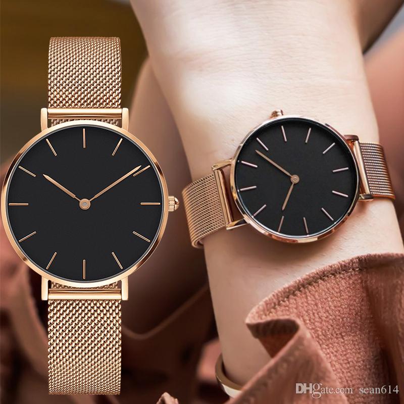 gamma esclusiva grande sconto del 2019 calzature Famous Fashion Brand PETITE Watches Women'S Stainless Steel Quartz ...