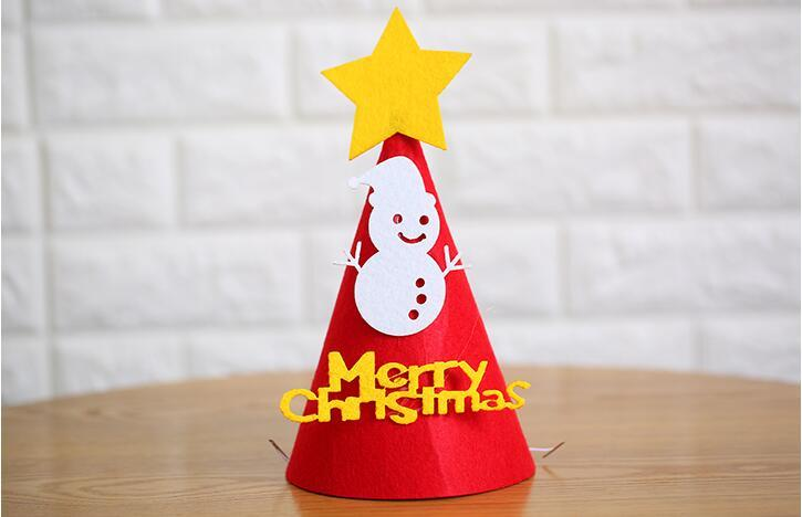 Hot Selling Newest 2018 Christmas Decorations: Christmas Hat, Paper, Non-woven Gifts, Adult Children's Hats