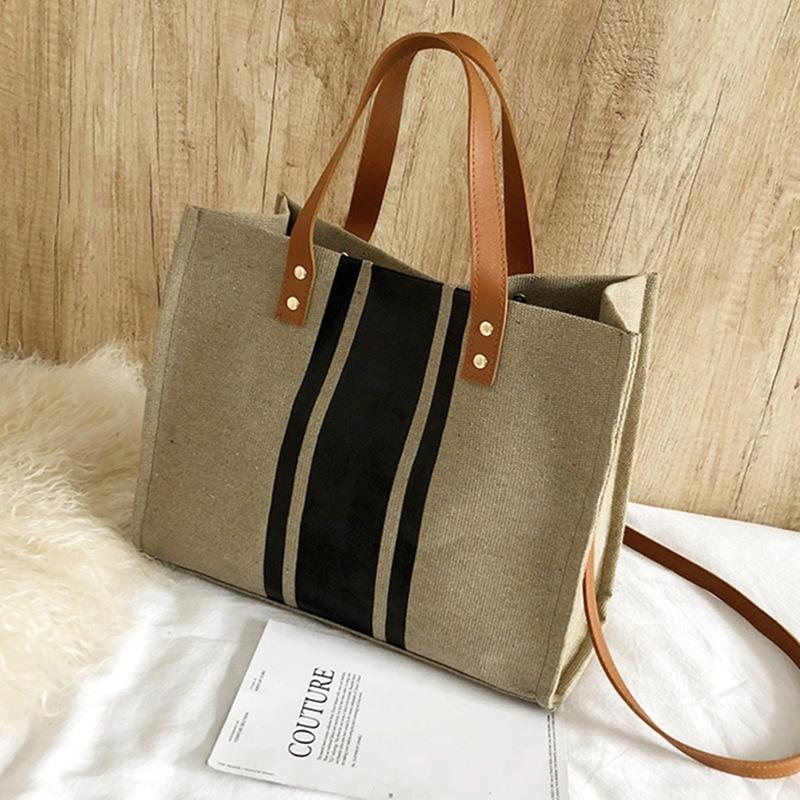 2020 New Korea Style Of Women's Bag Fashion Canvas Bag Casual Shoulder Large Capacity Messenger