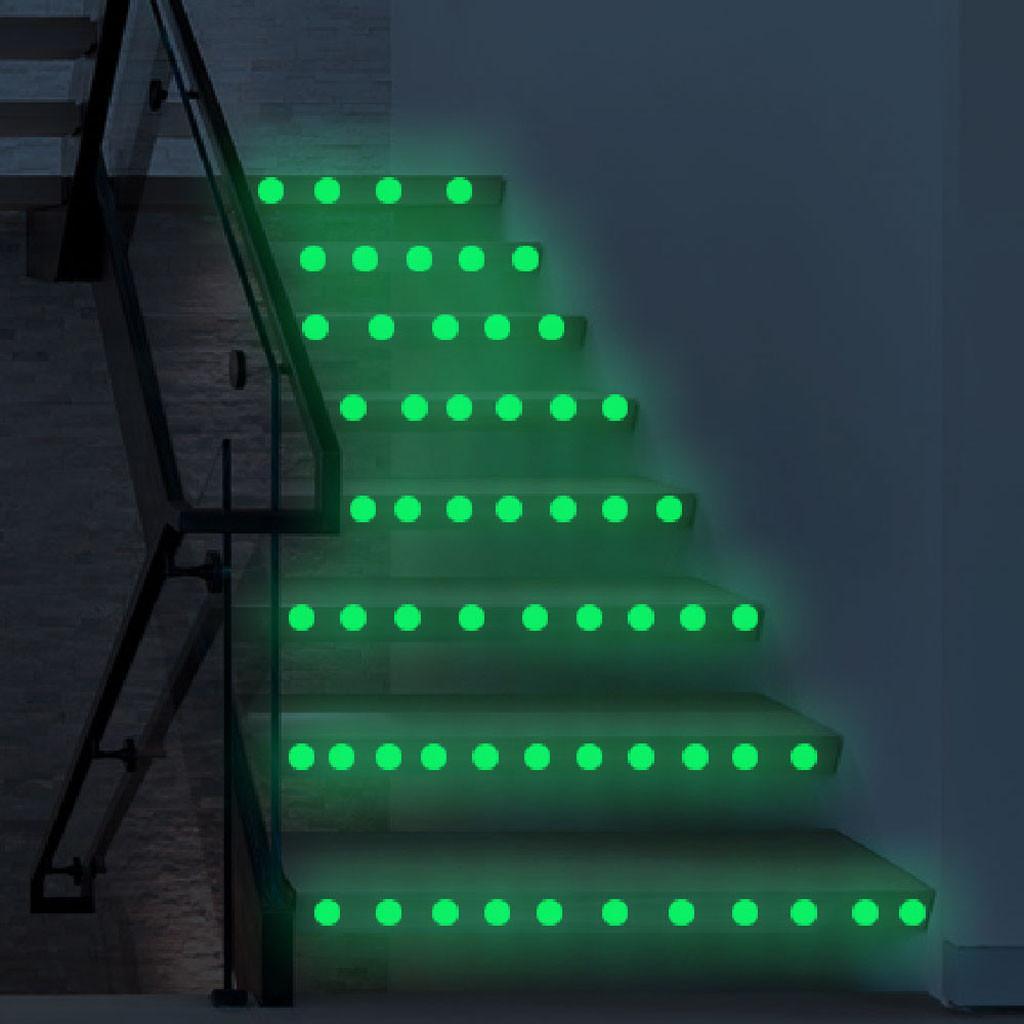 Aydınlık Polka Koyu Peel Çubuk Yuvarlak Sanat Mural serbest denizcilikte Çocuk Odaları Tavan Duvar Çıkartmaları Glow için Nokta Duvar Sticker Circles
