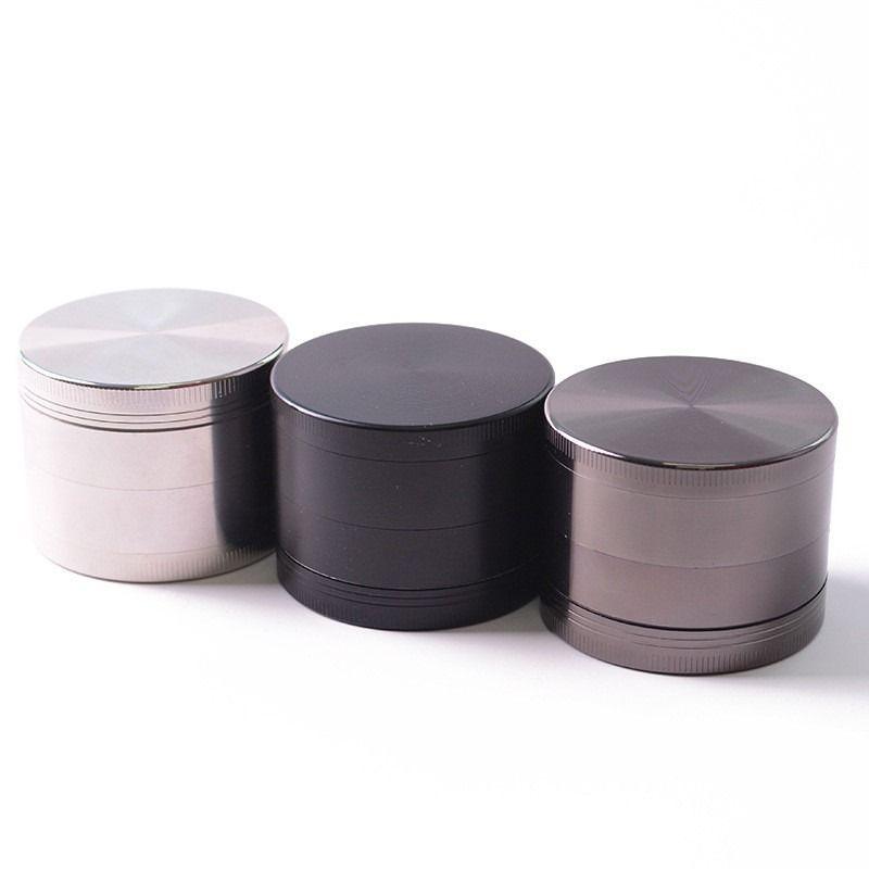 Haute qualité Sharpstone Grinder tabac en métal en alliage de zinc à base de plantes Grinders 4 couches 40mm Diamètre 8 couleurs arc-en-OEMlogo