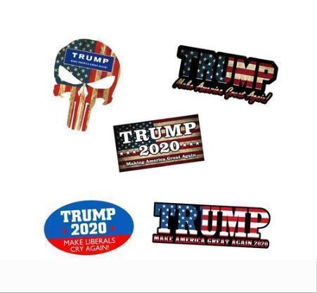 Trump 2020 Bandiera autoadesivo Cappello rielezione Keep America Grande Donald Per il presidente USA Decal Sticker Drop Shipping