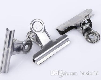 أدوات المكتب Grip Clips Bulldog Clips Letter Letter الفضة معدن ورقة كليب الحجم 30 مم