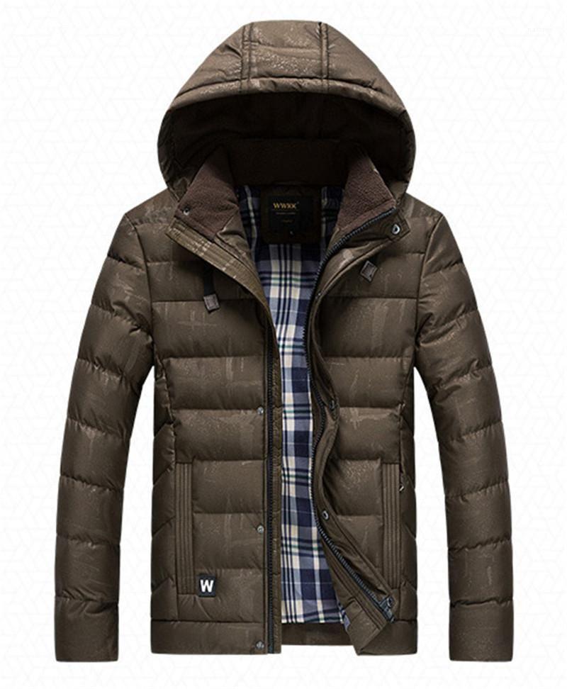 Designer Coton Doudounes Mode Stripe lambrissé Hommes Coton rembourrées Manteaux hommes Vêtements décontractés foncé Grain Mens