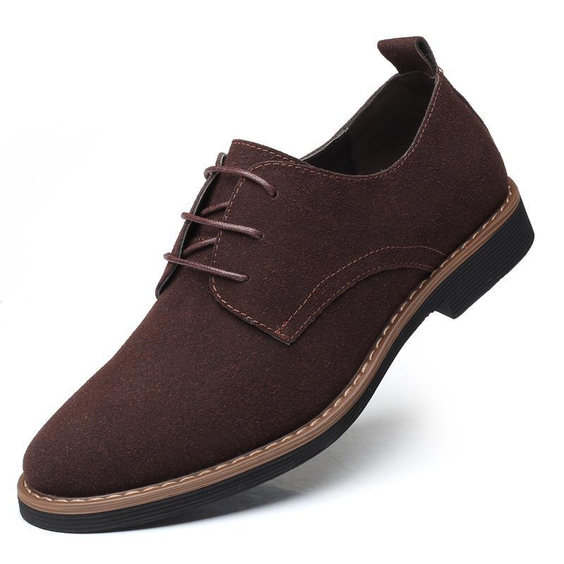 Marka Sürüş Düz Oxford Ayakkabı Rahat İngiltere Nubuk Gerçek Deri İnek Süet Nefes Ayakkabı Günlük Ayakkabılar Slip On Mens