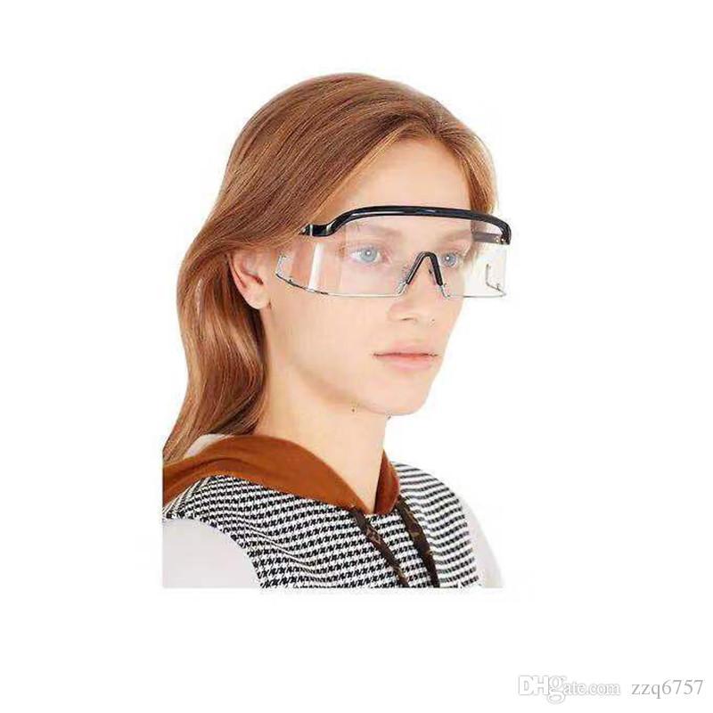 Модные очки в авангардном стиле, негабаритные очки, оправа и защитные очки высшего качества, уф-очки с коробкой 1158