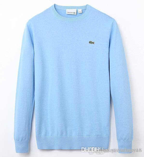A 2019 del otoño del resorte nuevos de alta calidad suéter giro punto jersey de algodón hombres suéter puente suéter suéteres de los hombres de la marca