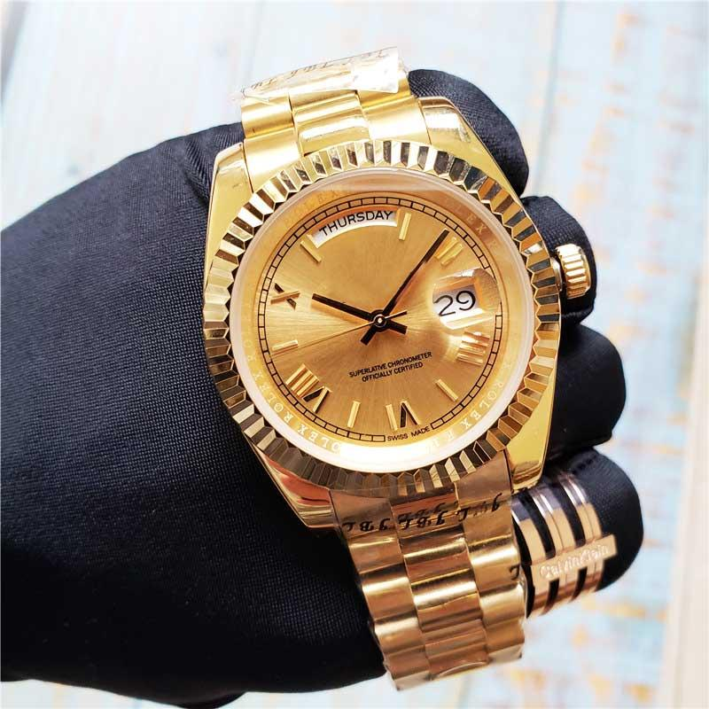فاخر رجل الساعات مصمم الساعات الغوص للماء التلقائي الرياضية الحركة الميكانيكية الفولاذ المقاوم للصدأ الذهب / الفضة مدي تاريخ اليوم