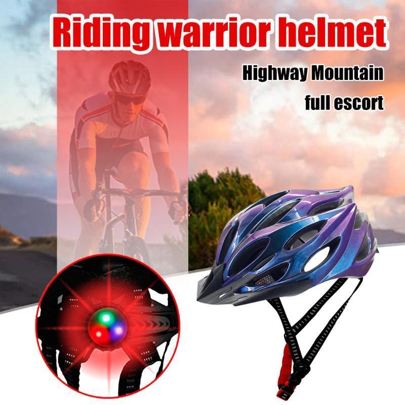 capacete da motocicleta Mountain Bike capacete Quatro estações unisex Segurança Sports Outdoor Bicicleta da equitação cinta de queixo ajustável