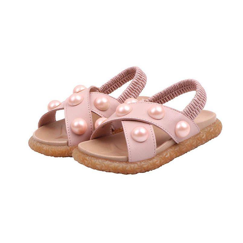 2020 Summer pearl baby girl sandals fashion toddler shoes baby shoes toddler sandals baby sandals princess girls shoes beach shoe B1331