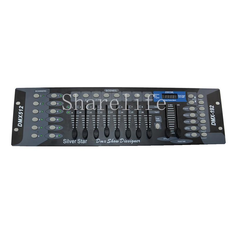 Sharelife 간단한 192 DMX 채널 표준 DMX 512 신호 컨트롤러 스테레오 조이스틱 마이크가있는 콘솔 컨트롤러