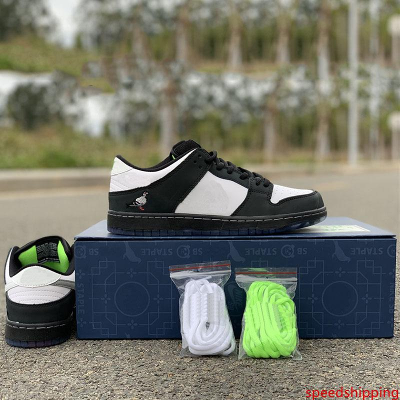 Staple x SB Dunk Low Pro OG QS Skateboard Shoes Panda Pigeon 3.0 Fashion Designer Sport Sneakers Black White Casual Shoes