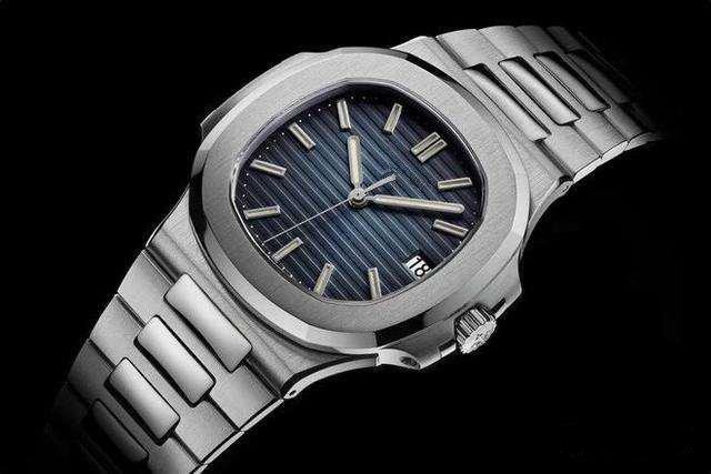 최고 노틸러스 손목 시계 남성 자동 명품 시계 5711 개 실버 스트랩 블루 스테인레스 망 기계 Orologio 디 Lusso를 시계 날짜 ikwatches