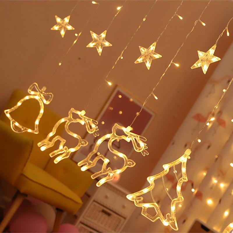 LED 크리스마스 문자열 조명 실내 바에 대 한 축제 장식 조명 친구 파티 조명 따뜻한 화이트 EU / 미국