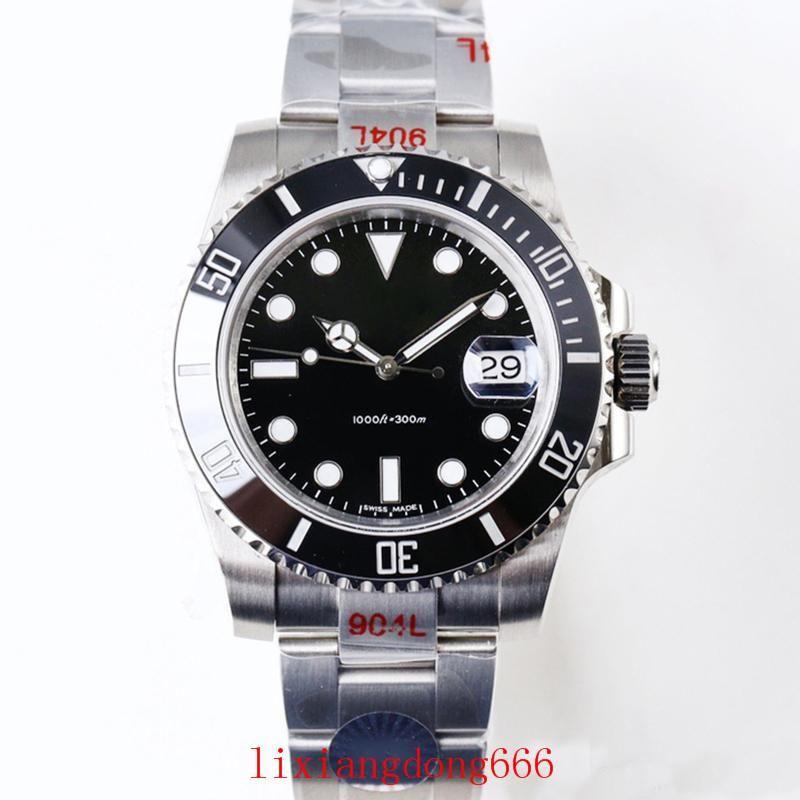 Mens Relógios de luxo V9 904L 116610LN ETA 3135 Automatic Relógios Mecânicos Preto Verde Quadro Cerâmica Luminous Mergulho Assista DHL frete grátis