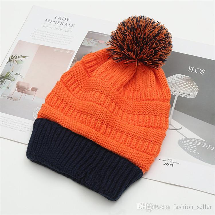 8 Farben Beanies Adult Strickmützen Visor Cup Frauen Winter Herbst warme Hut Weave Beanies Mädchen Hut Lässige Cap Kopfbedeckung