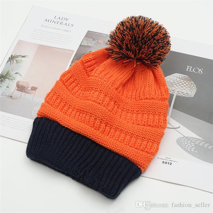 8 couleurs Beanies Adulte Bonneterie Casquettes Coupe Visor femmes hiver chaud Automne Chapeaux Weave Bonnets Filles Chapeau Casual Cap Coiffures