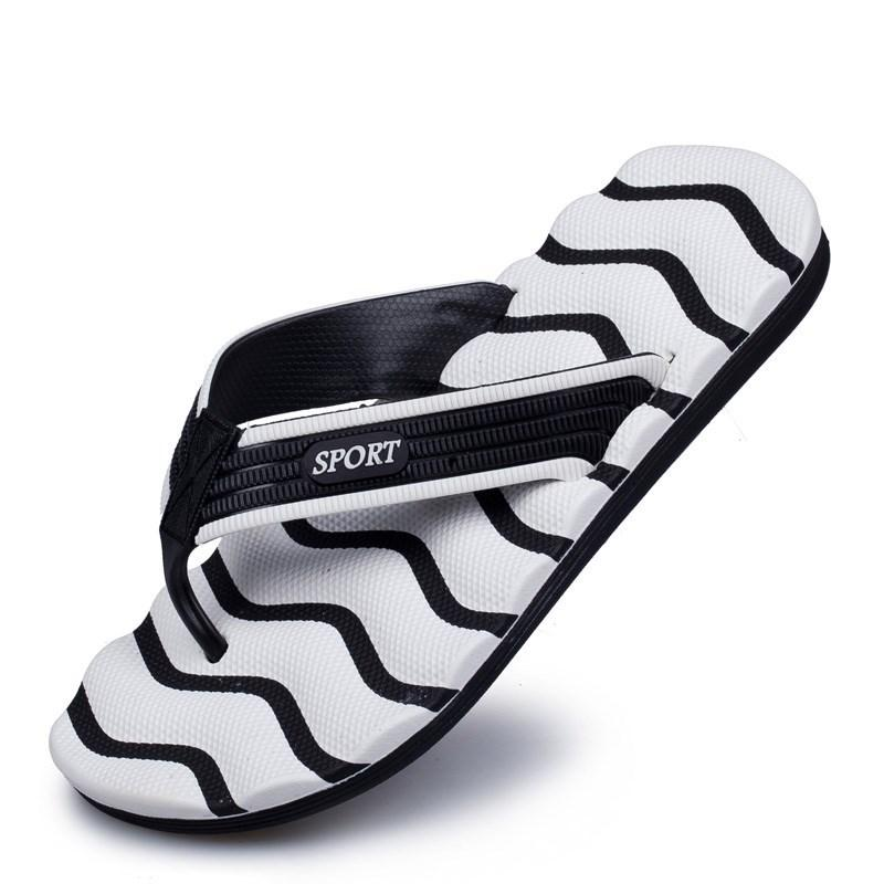 Moda Uomo Pantofole 2018 Summer Beach Pantofole Scarpe Uomo Infradito talloni piani Maschio Slides piatto scarpe casual