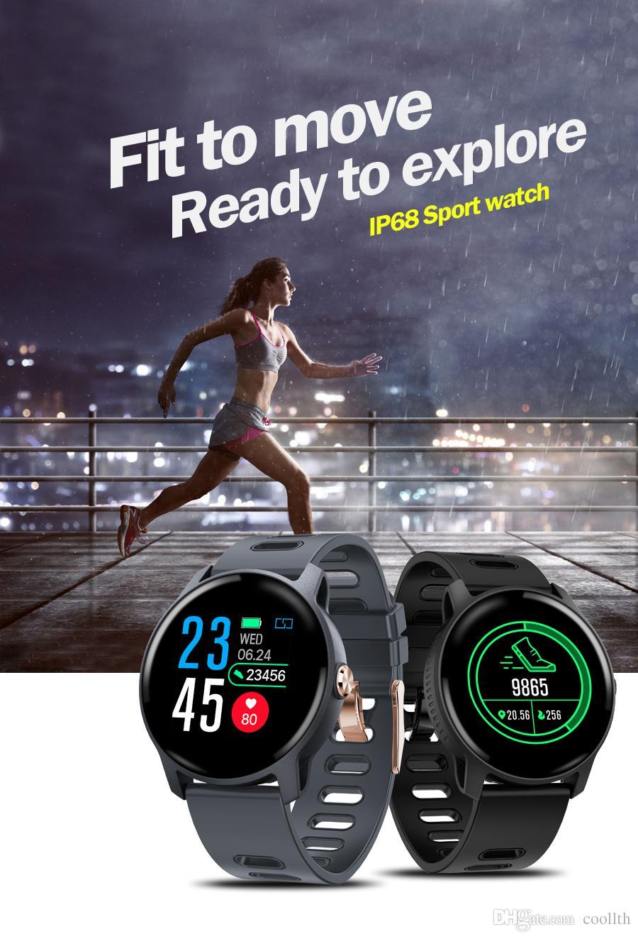 S08 사과를위한 똑똑한 시계 Ip68 방수 심박수 감시자 smartwatch Bluetooth Smartwatch 활동 적당 추적자 악대