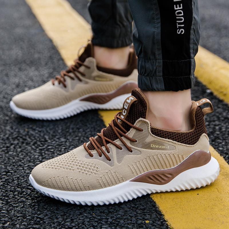 2020 Summer Autumn Fashion Woven Sneaker High Quality Casual Shoes Breathable Running Men's Shoes 39-44