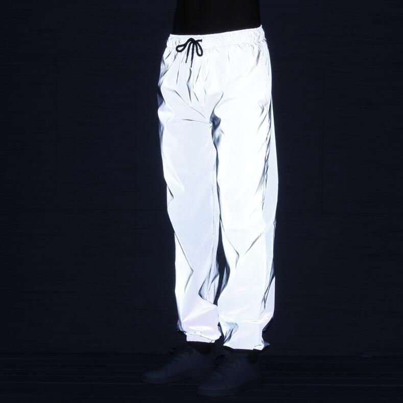 Мужчины хип-хоп отражающие брюки modis тренировочные брюки бегуны мужчины уличная брюки плюс размер мужские длинные брюки панталоны