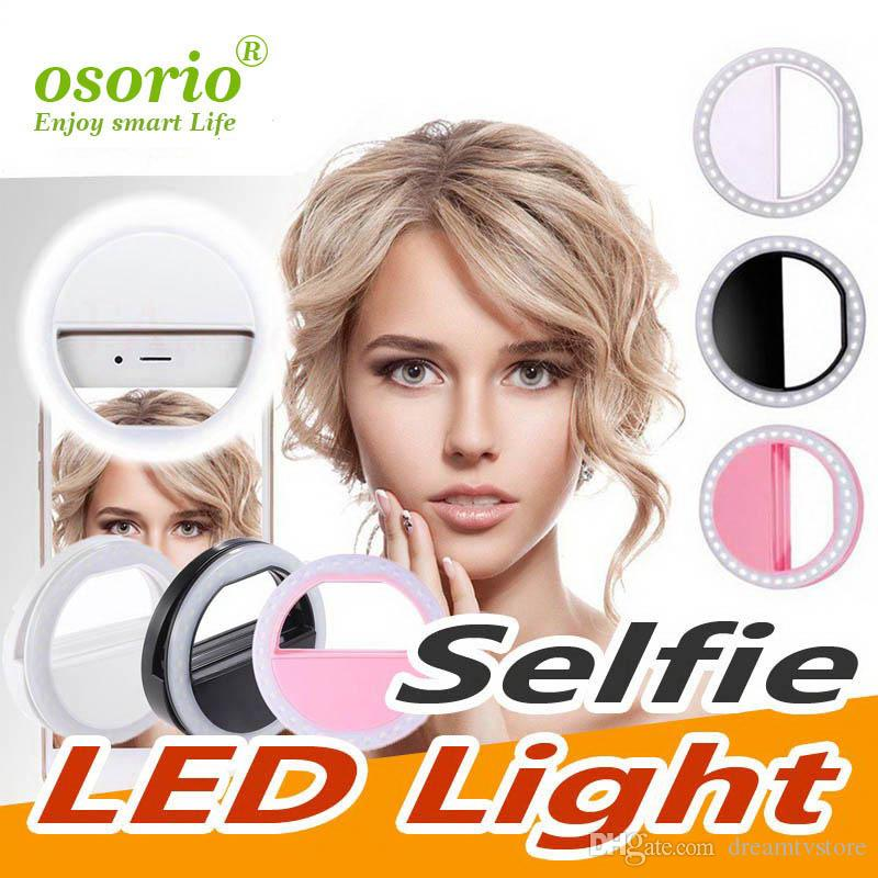 LED selfie lumière pour Iphone XR XS 8 7 Annulaire lampe flash selfie Annulaire Photographie Caméra Pour Samsung Box