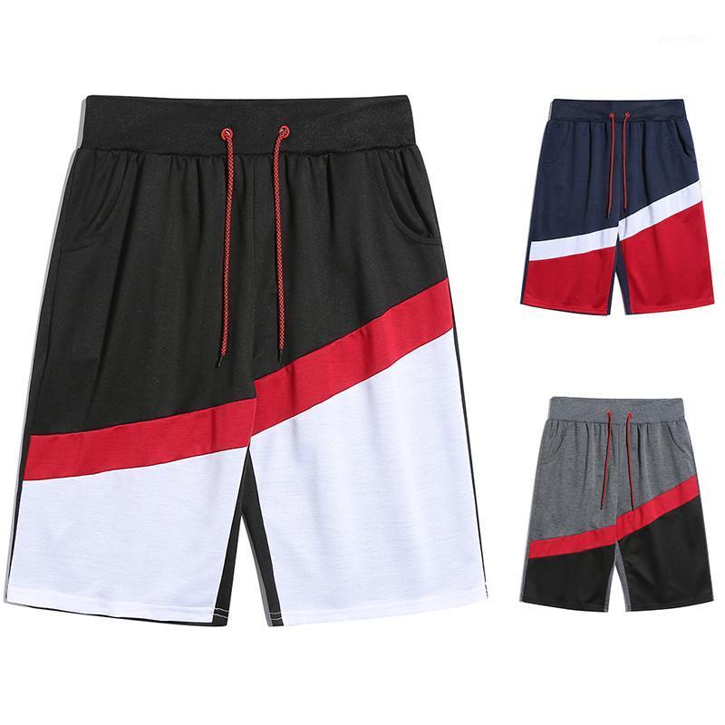Kontrast Renk İpli Spor Stil Diz Boyu Pantolon Moda Erkek Giyim Erkek Tasarımcı Yaz Şort Pantolon