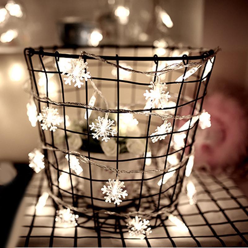 Año Nuevo 3M 20 LED Tira Hilo de Luz natal del árbol de Navidad Garland decorativo de la boda luces LED Decoración de Navidad para el hogar