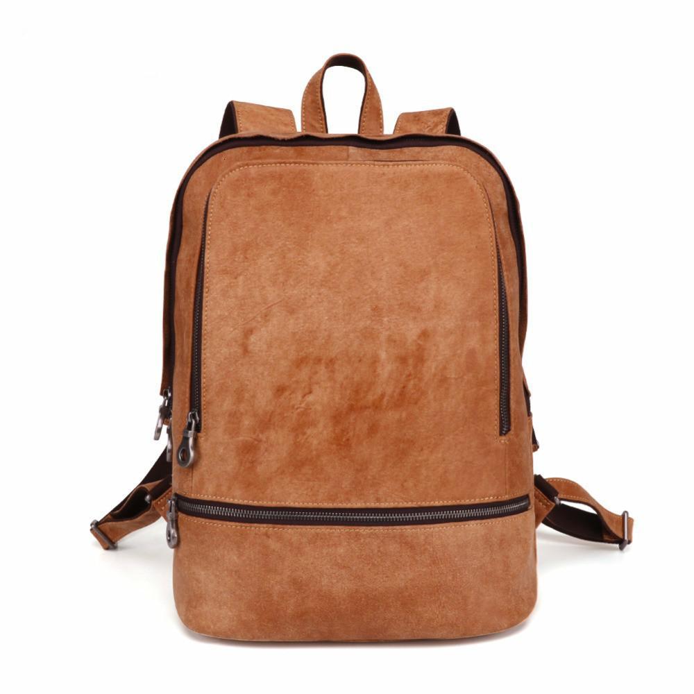Hot sale men's genuine leather holographic business backpack geometric bags laptop man travel fashion school designer for men wholesale 2019
