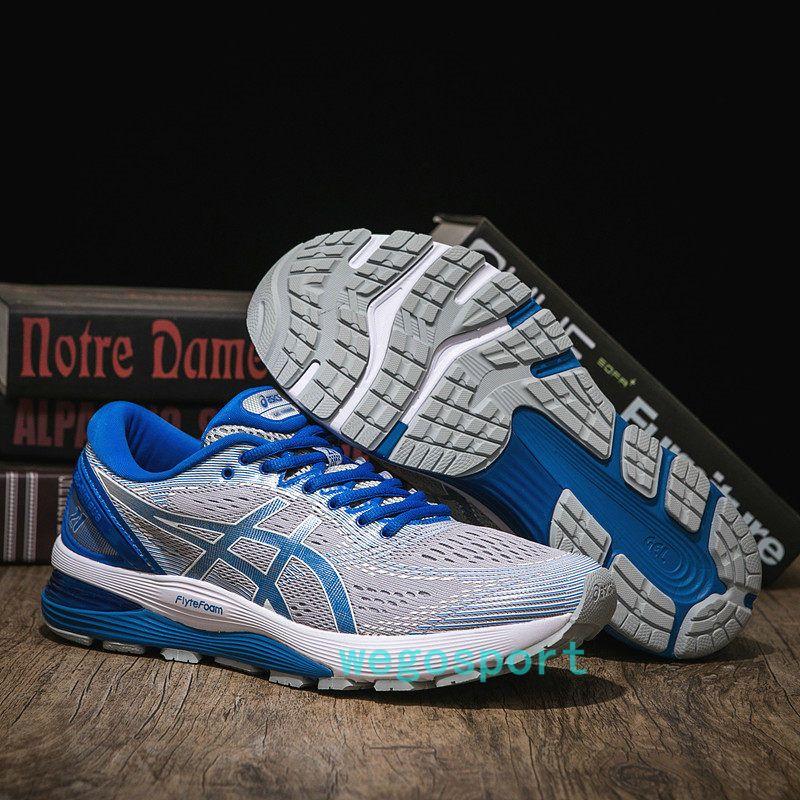 Acheter 2019 Nouveau ASICS GEL KAYANO 25 Hommes Extérieur Baskets De Jogging Asics Blanc Bleu Foncé Rouge Chaussures De Course Designer D'origine US