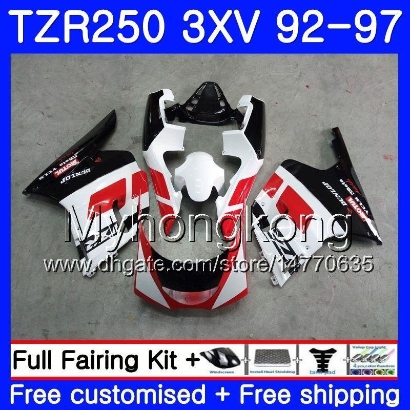 키트 YAMAHA TZR 250 3XV YPVS TZR-250 92 93 94 95 96 97 245HM.1 블랙 레드 TZR250RR RS TZR250 1992 1993 1994 1995 1996 1997 페어링