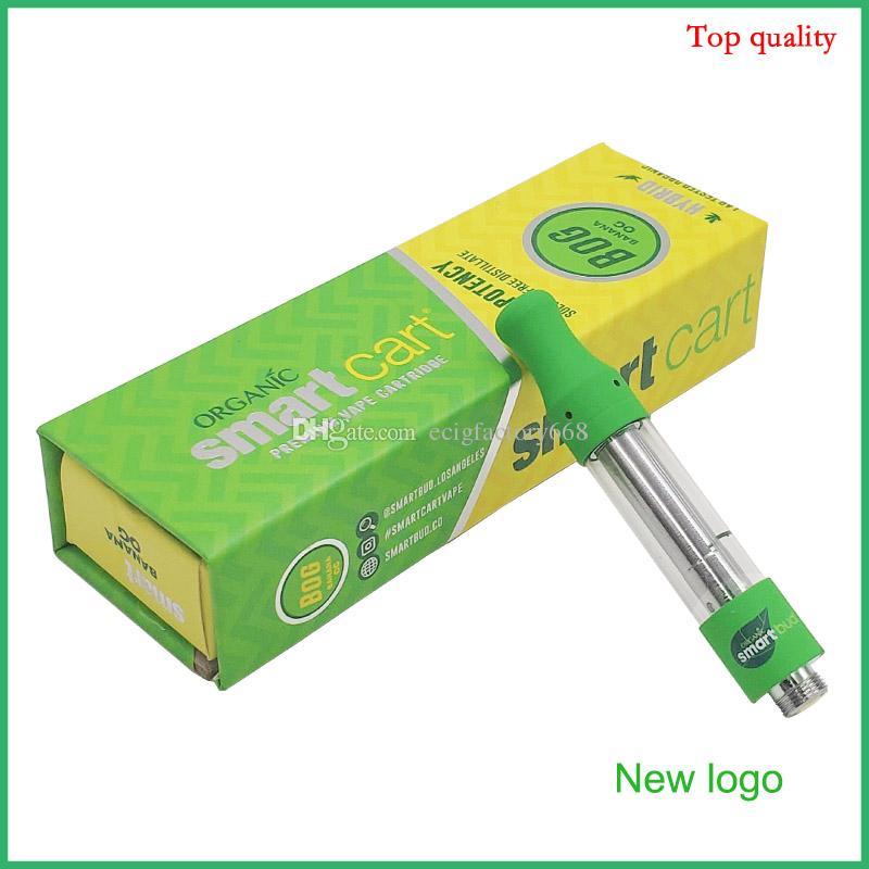 Orgánica magnética Smart Box Cesta cartucho de vaporizador vacío verde de envases de cerámica cartuchos Vape inteligente Bud Vaporizador para 510 Tema 2019 de la moda