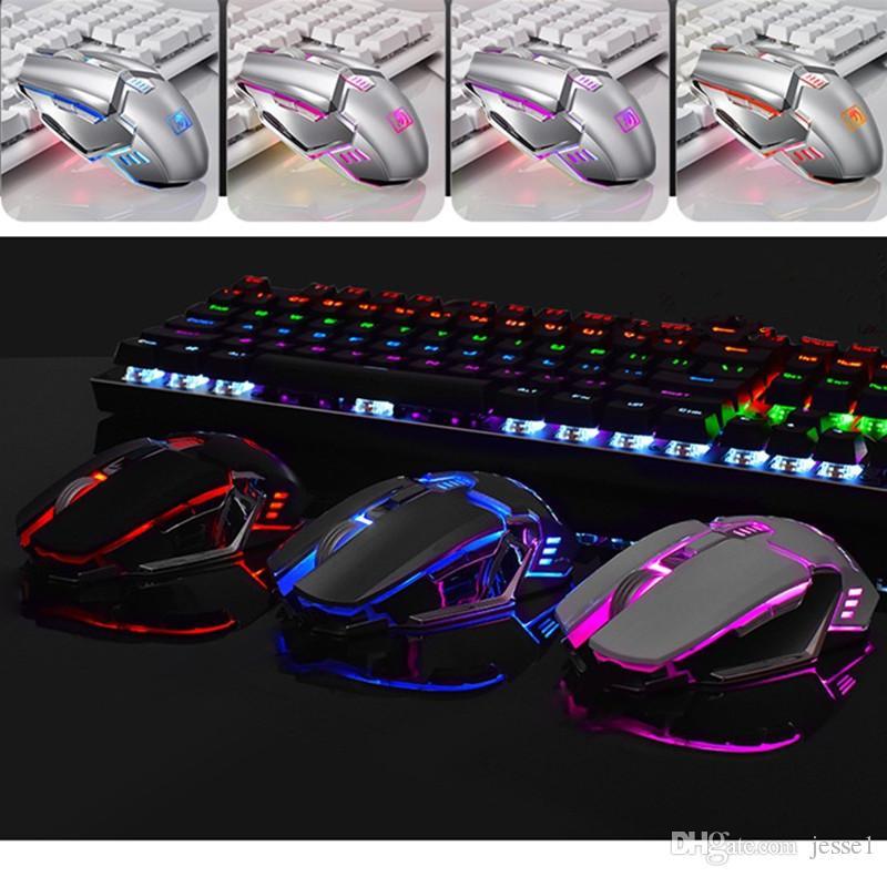 Dernière souris de souris de jeu sans fil Souris de souris pour Gamer PC Computer MICE Portable Jeu 6 boutons 2400DPI ajustable optique 2,4 GHz avec récepteur USB