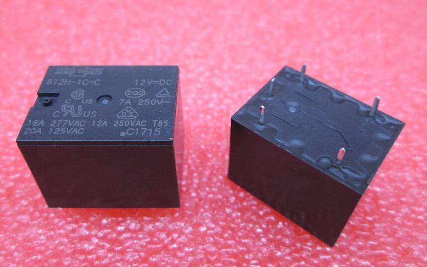 Свободная перевозка груза (10pieces / серия) 100% первоначально новый 812H-1C-C 5VDC 12VDC 24VDC 812H-1C-C-812H 5VDC-1C-C-12VDC 812H-1C-C-24VDC 5Pins 12А силовых реле