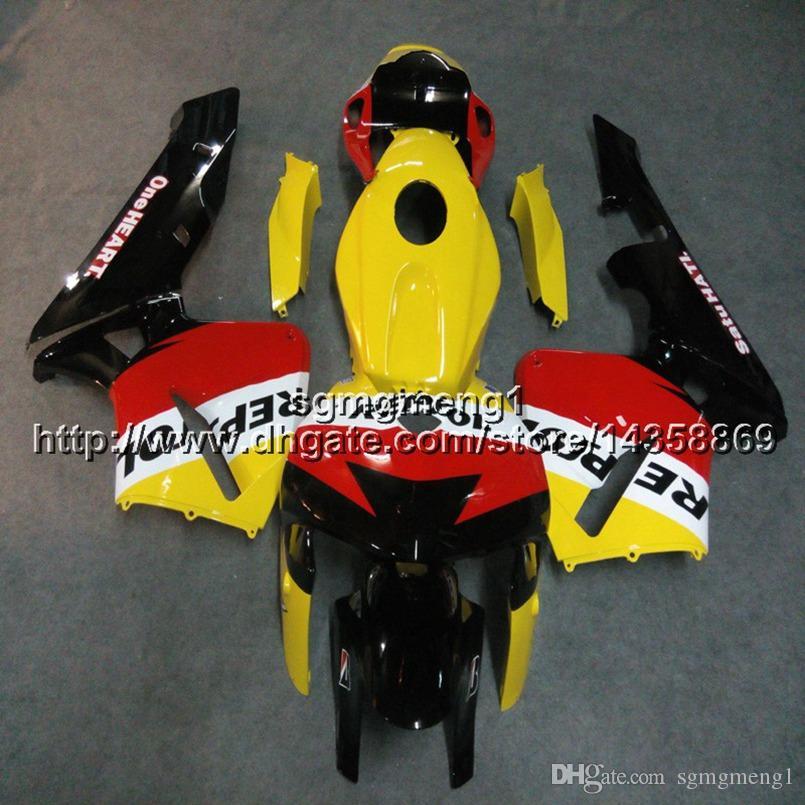Geschenke + Schrauben Spritzgussform Repsol gelb Motorrad Verkleidung Rumpf für Honda CBR600RR 2005-2006 F5 05 06 Body Kit Motor Panels