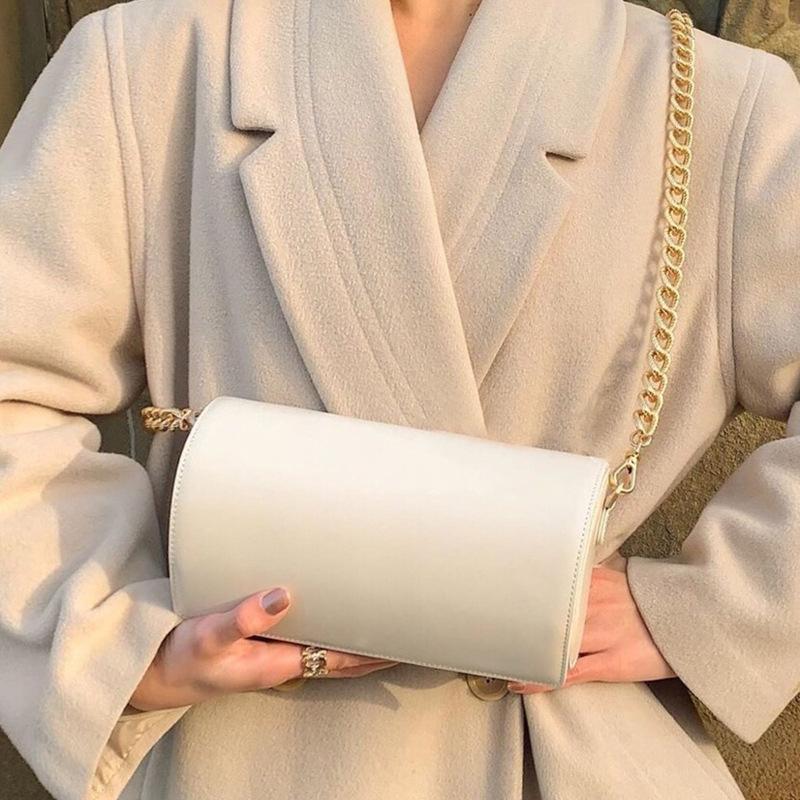 Las nuevas señoras semicírculo cadena bolsa caja de hombro bolsas de mensajero de las mujeres del hombro