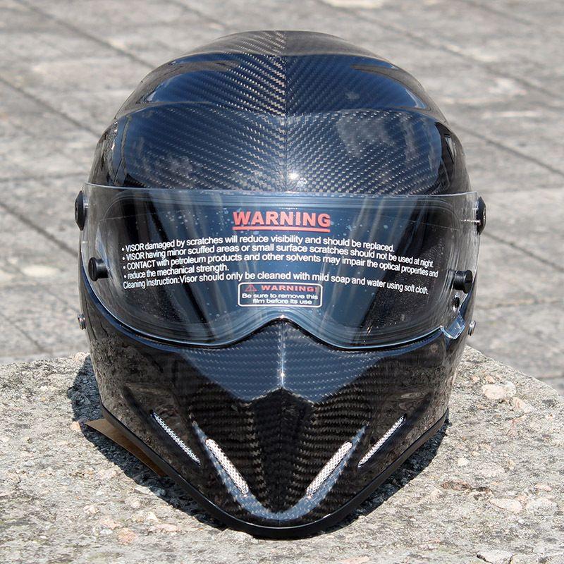 2019 New ATV-4 Motorcycle Helmet Carbon Fiber Coat Mount Motorcycle Full Face Helmet Capacete Motocross Four Seasons General XS-XXL Helmets