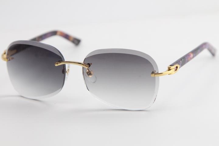Hot sale Metal Rimless Plank Sunglasses Adumbral Cat eye Sunglasses Fashion High Quality Sun Glasses Male and Femal men gold frame glasses