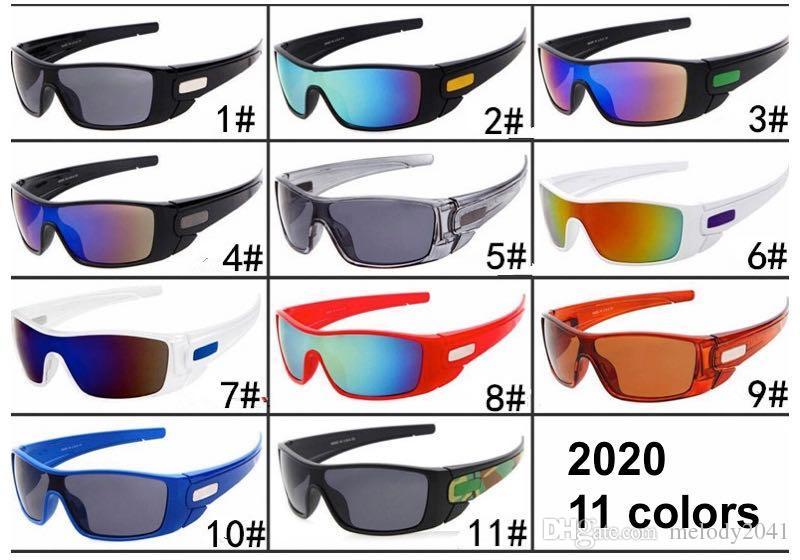 Vendita calda degli uomini di sport degli occhiali da sole UV400 Ciclismo Goggle Unisex Designer 11 Colori PC Full frame Shield Occhiali all'ingrosso