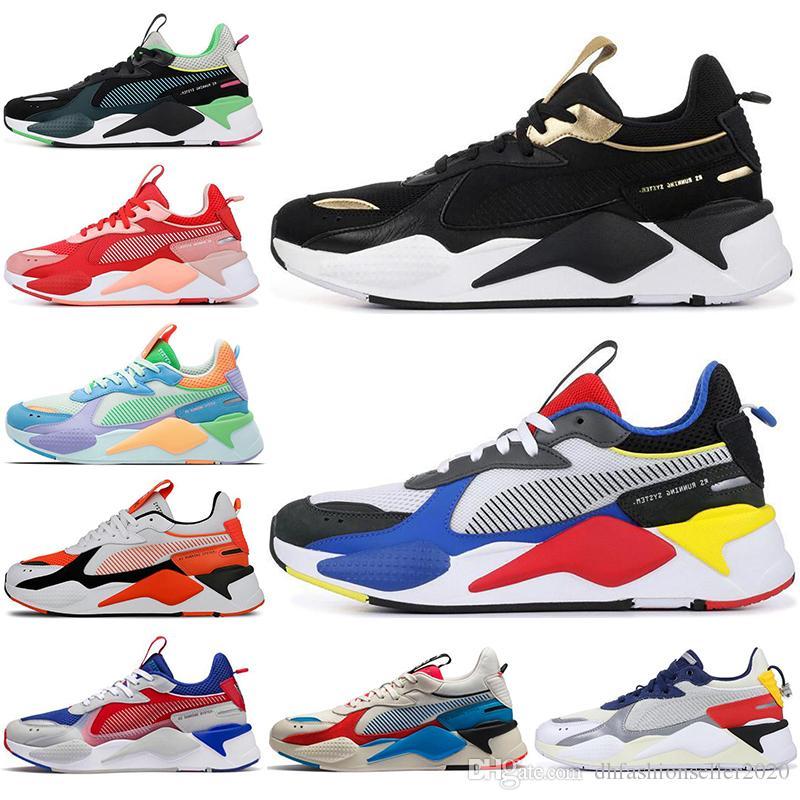 Compre Puma Con Calcetines Nuevos Hombres Mujeres RS Running System Blanco  Negro Azul Rojo Amarillo Zapatos Zapatillas De Deporte Atléticas Zapatillas  ...