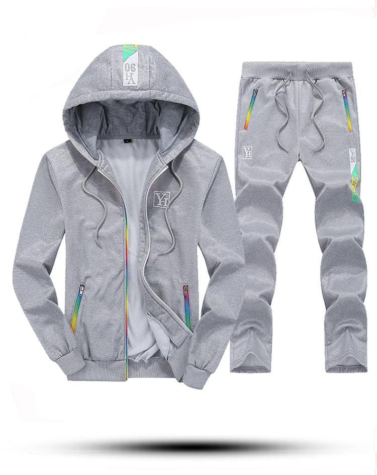 Male 2 Piece Set Casual Sporting Suits Men Spring Autumn Mens Tracksuits Hooded Hoodies + Pants Men Sportswear Tide 4XL