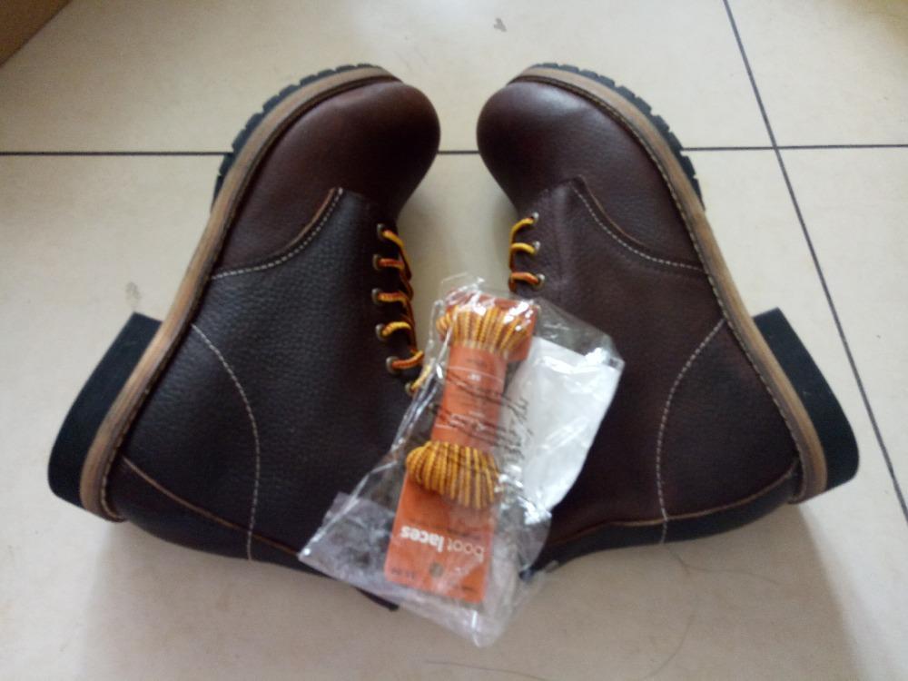 Hot Sale-ew Frühling echtes Ledermens-Plattform Brown Ankle Boots Red Breath Flügel Arbeitsschuh
